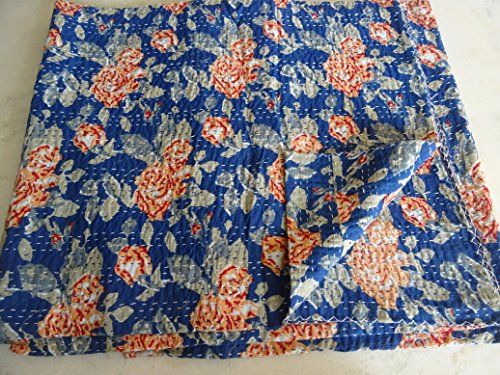 Tribal Asian Textiles Flora Newl Kantha Blanket Quilted Throws,ralli,gudari Handmade Tapestery Reversible Bedding 1010 Tribal Asian Textiles http://www.amazon.com/dp/B0156384JY/ref=cm_sw_r_pi_dp_jpN-wb0TKD5P1