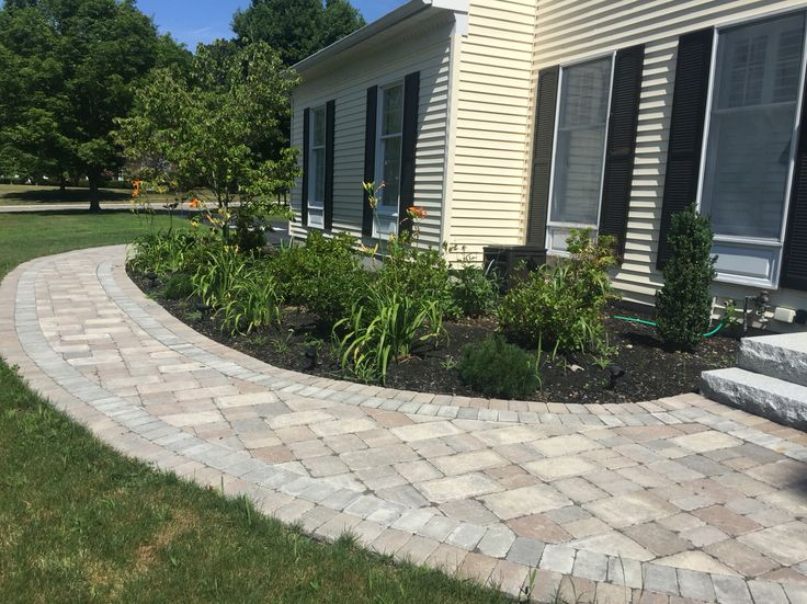 Unilock Pavers In Limestone.