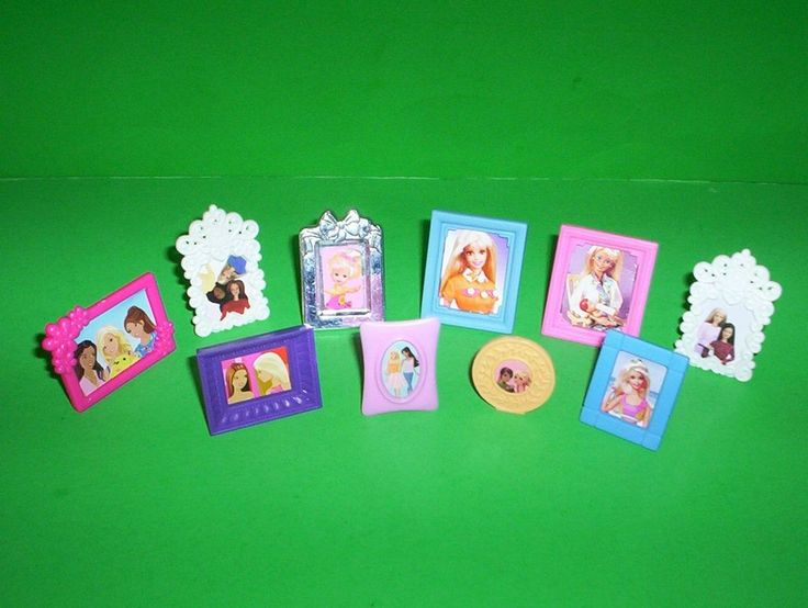 Barbie Doll House Framed Pictures Living Room Bed Room Kelly & Krissy Photos #Mattel