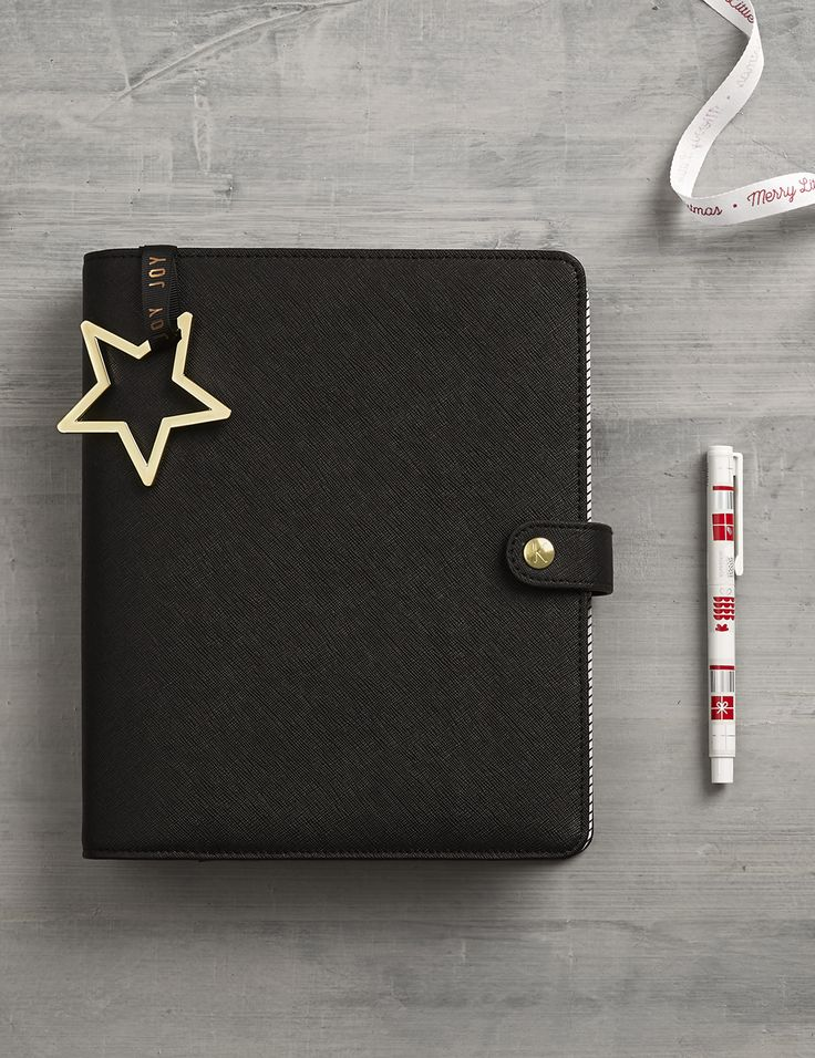 Stay sleek and minimal with this black Personal Planner