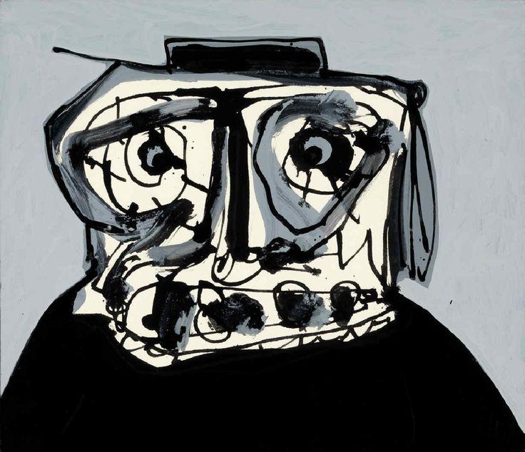 Retrato imaginario. Antonio Saura. 1993. Oleo sobre tela. 27 x 31,5 cm