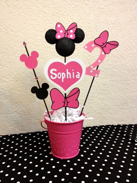 Minnie Mouse Birthday Decorations Set of 4 by TheGirlNXTdoor
