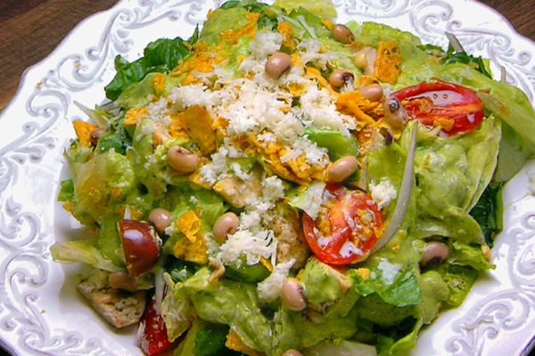 Grilled Chicken Salad with Creamy Avocado Dressing   Flip My Food