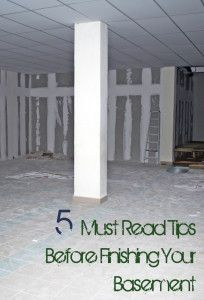 5 Tips to Finishing your Basement - this could come in handy for the unfinished section of the basement :-)