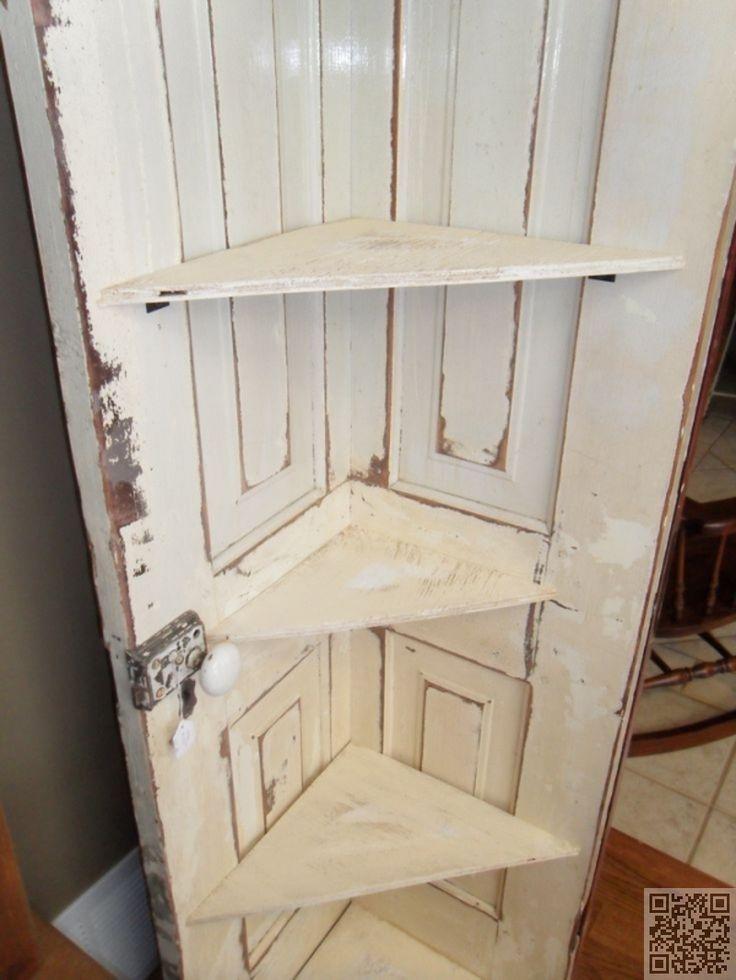 34. Cool #Corner Shelf Made out of a Door - #Shelfies: the Best DIY Shelves ... → DIY #Ordinary