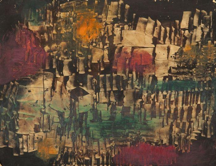 Alfred Lenica - Kompozycja abstrakcyjna, lata 60. XX w.