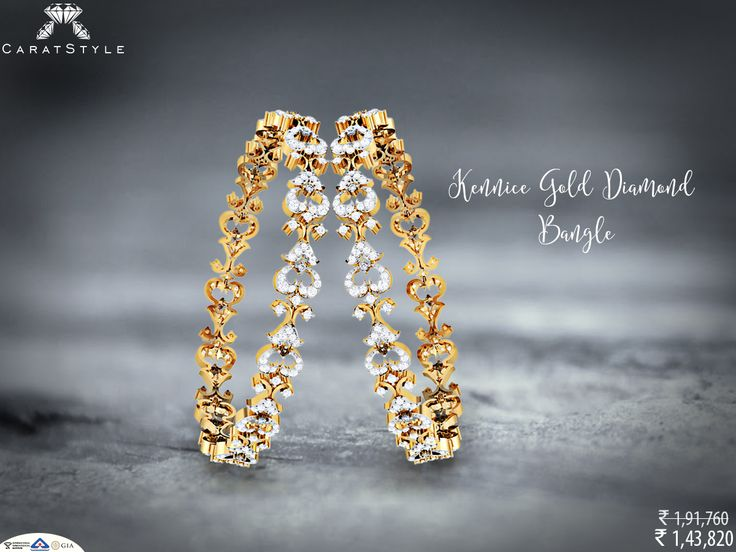Charmed to meet you! Explore ~ #diamond #bangle #diamondbangles #banglesonlineshopping #banglesonline #womenjewellery #diamondjewellery