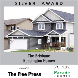 The Brisbane - New home builder Kensington Homes wins awards for newly built residential home construction in Winnipeg Manitoba