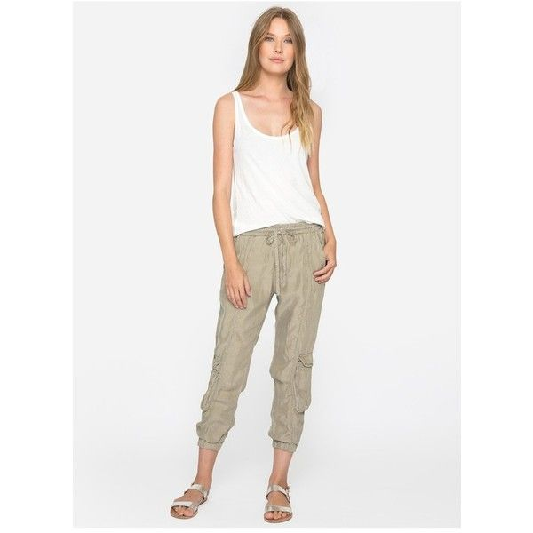 Johnny Was Ramble Cargo Pants ($178) ❤ liked on Polyvore featuring pants, lounge, neutral, drawstring trousers, white drawstring pants, pull on pants, white cargo pants and pull on cargo pants