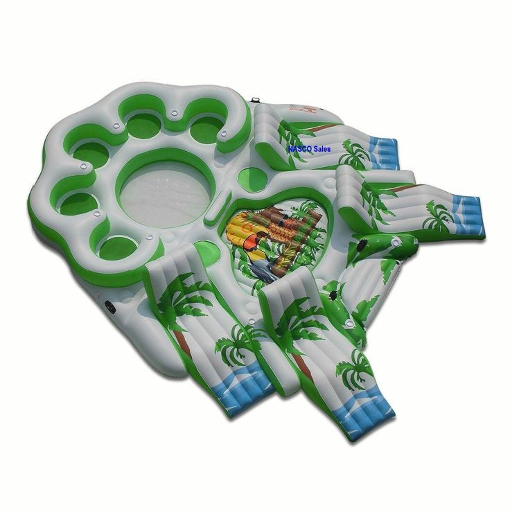 Party Island Beach: Party Float Raft. Large Giant Size. Enjoy The Water At