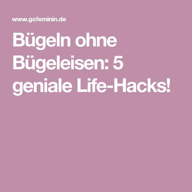 Bügeln ohne Bügeleisen: 5 geniale Life-Hacks!