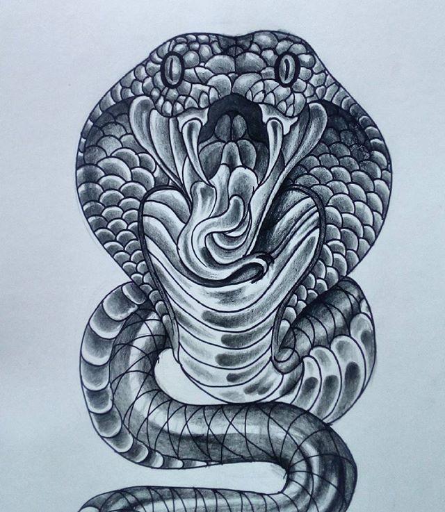 Cobra... #art #artwork #tattoo #tatts #ink #tatuaje #tatuajes #tatuador #tattoostudio #tattooidea #flashtattoos #sketch #draw #drawing #tattooartist #trazoné #elindomabletattoo #cobra #snake
