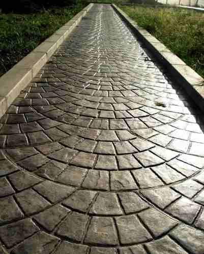 Las 25 mejores ideas sobre patios de concreto estampados for Pisos para cocheras y patios