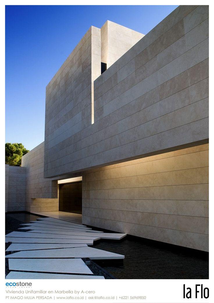 Design idea: façade. #stoneveneer Vivienda Unifamiliar en Marbella