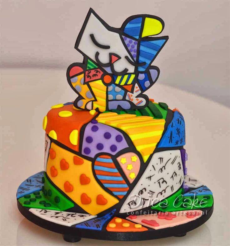 romero britto´s cake - Buscar con Google
