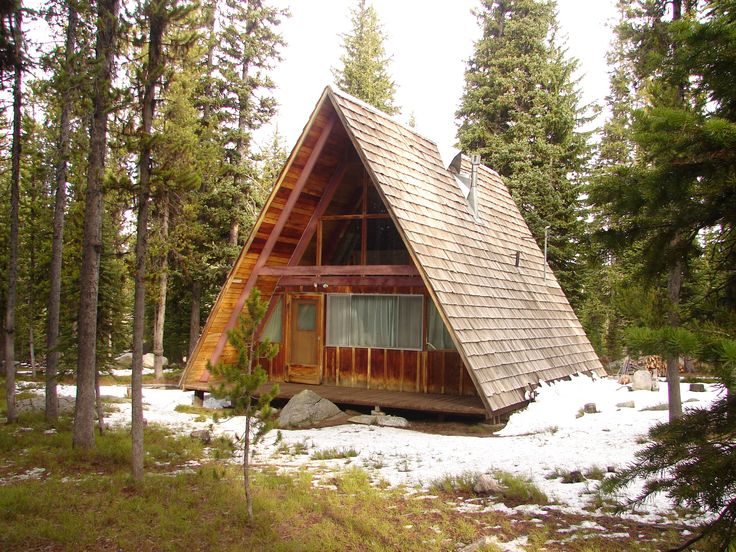 12 best cabins images on pinterest wood cabins a frame for Log a frame cabins
