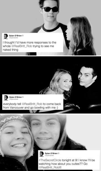 Dylan O´Brien and Britt Robertson - the most important brylan tweets to exist