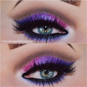makeupwithtammy's Instagram photos   Pinsta.me - Explore All Instagram Online: Shades of Blue & Purple done with Such Precision! Pretty as a Peacock!