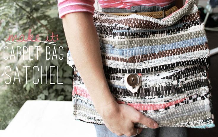 DIY: carpet bag satchel