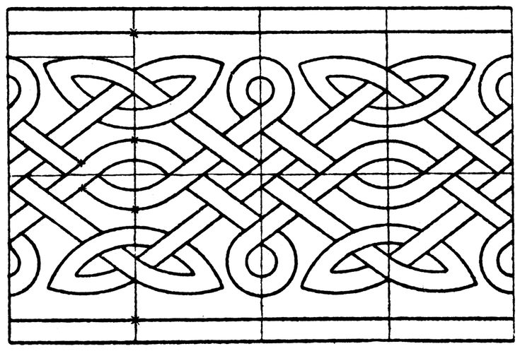 The northern interlacement band is a pattern that is also known as Celtic, Anglo-Saxon, Norman, Scandinavian and Old Frankish. Its is a richly complicated interlacement design. This design comes from a manuscript ornament of the 8th and 9th century.