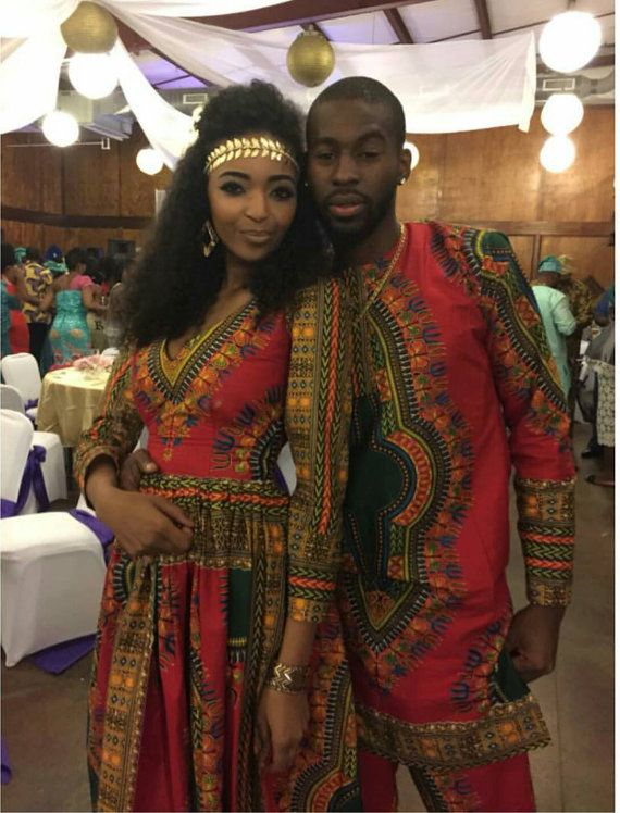 Dashiki couple gown african mens suit by AFROCOLLECTION2015