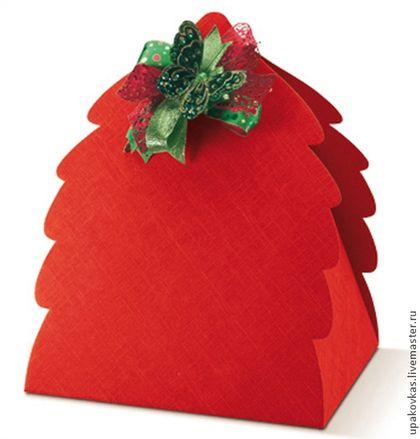 Новый год 2016 ручной работы. Ярмарка Мастеров - ручная работа. Купить Коробки подарочные новогодние большие - ёлочки. Handmade.