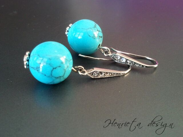Turquoise & strass