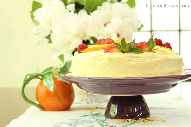 Orange Cake with Orange Butter Frosting