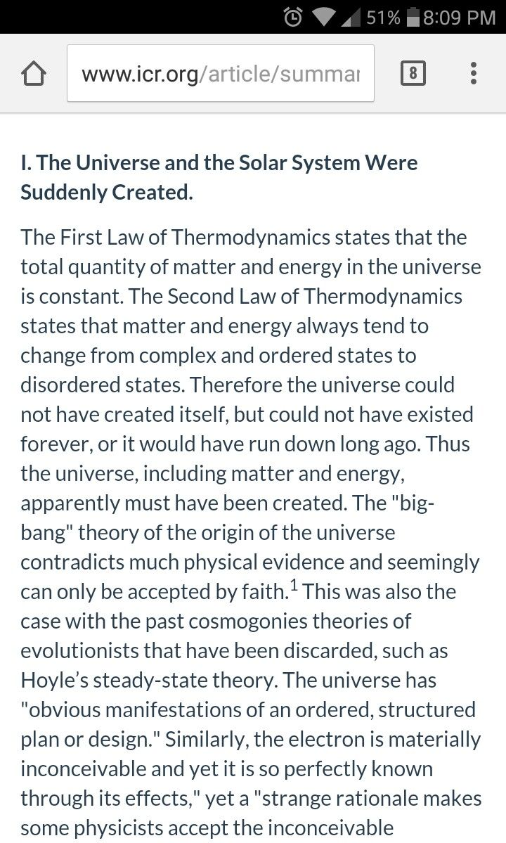 Steady state theory discredited