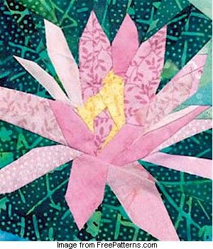 583 best paper piecing images on pinterest paper pieced quilts water lily paper pieced block designed by linda causee mightylinksfo