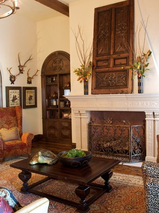 Fireplace Door Decorating Ideas 550 x 734