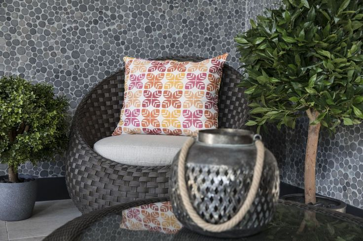 Outdoor - Furniture - New Design - Donut Chair - Scatter Cushions - Customised - wicker - Sunbrella -  fabric