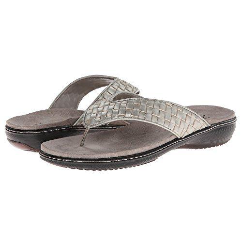 (トロッターズ) Trotters レディース シューズ・靴 サンダル Kristina 並行輸入品  新品【取り寄せ商品のため、お届けまでに2週間前後かかります。】 表示サイズ表はすべて【参考サイズ】です。ご不明点はお問合せ下さい。 カラー:Silverwash Metallic Woven Soft Nappa Leather