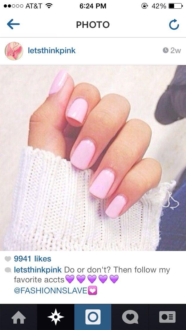 Light Pink Nail Polish   Nails   Pinterest   Colors, Nude ... - photo#23