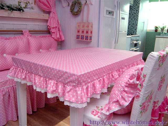 LIKE THE FITTED TABLE CLOTH - OTHERWISE - A BIT OVER THE TOP!