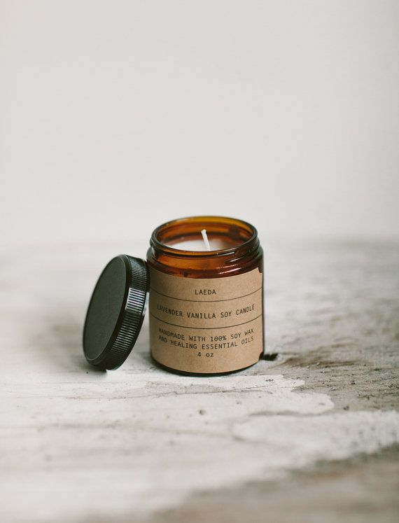 Organic Lavender Vanilla Soy Candle LAEDA.CO