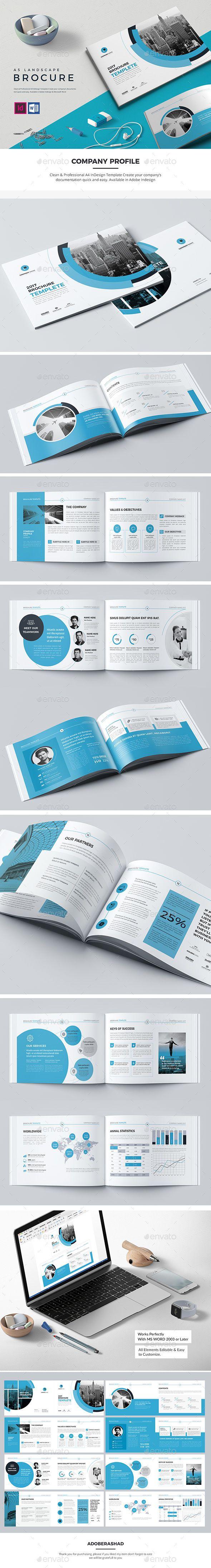 Co Landscape Brochure Template InDesign INDD - 16 Pages
