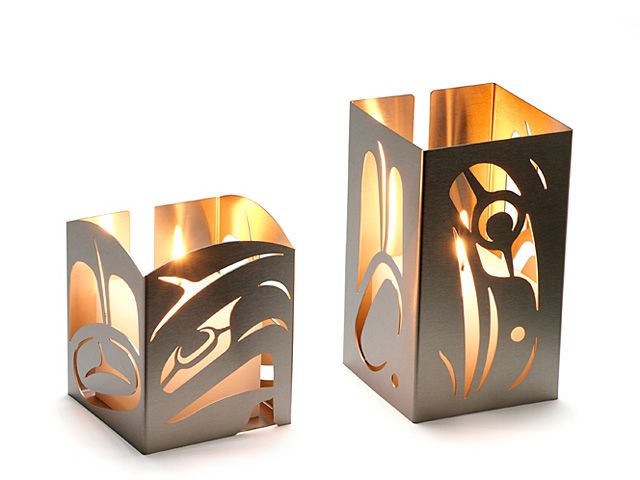 Candle Surround - Eagle and RavenStainless Steel. Open Edition.