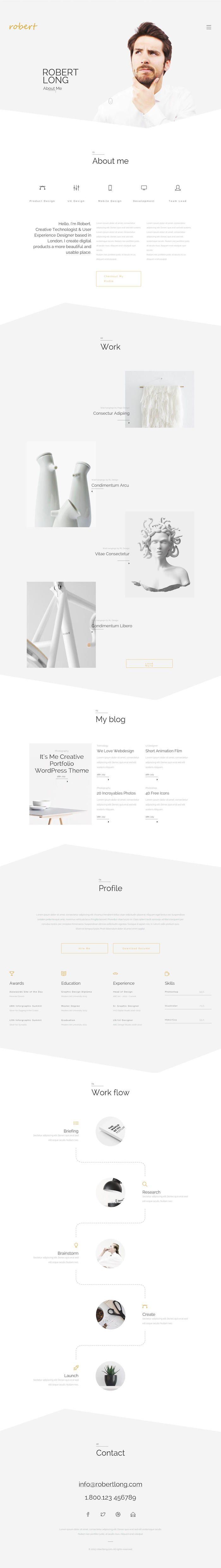 its me creative personal portfolio website design - Web Designer Resume