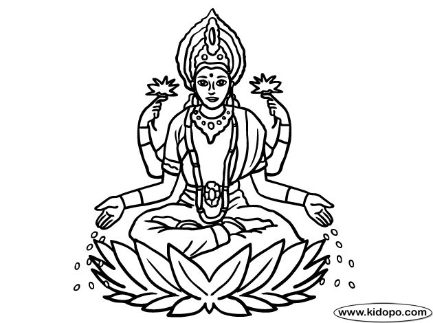 25 best lakshmi images on pinterest goddess lakshmi Coloring book kali