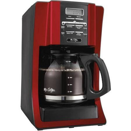 Mr Coffee 12Cup Programmable Coffee Maker Red * Want additional info? Click on the image.