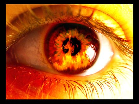 Eye Of Fire - Abstract, Awesome, Cool, Eye, Fantasy, Fire, Flames, Hot, Photography