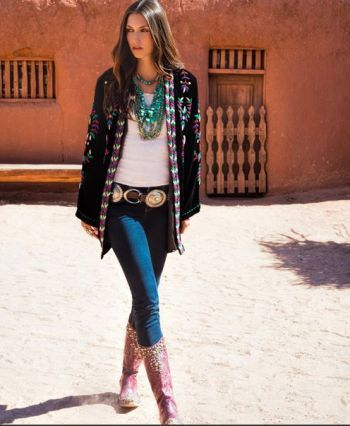 Brands :: Double D Ranch :: DOUBLE D RANCH FALL 2013 ESSENTIAL CONCHO LEGGING - Native American Jewelry|Ladies Western Wear|Double D Ranch|L...
