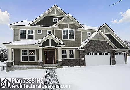 Craftsman floor plan- basement, 5 bedrooms, 4 bath, perfect outside look, piano room... Just what we need!!!