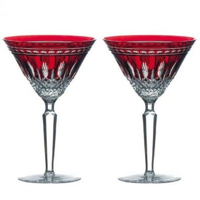 Waterford Crystal Clarendon Ruby Martini Pair.  Available on  http://www.standun.com/waterford-crystal-clarendon-ruby-martini-pair.html