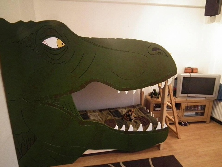 "A T-Rex bunk bed? Eli says ""yes, please"""