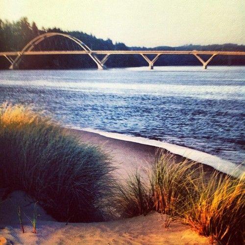 Alsea River Bridge at Waldport, Oregon