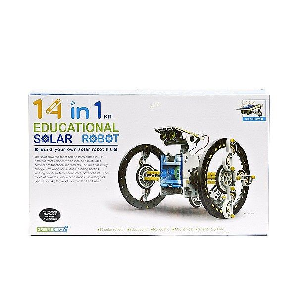 Solar power all the way! Any kid (and big kid) would love to play with a solar robot!