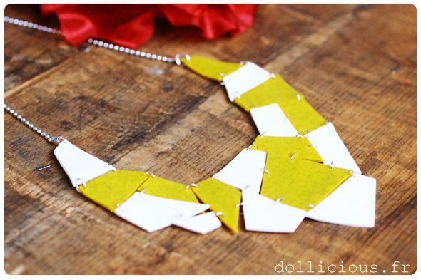 DIY : collier géométrique
