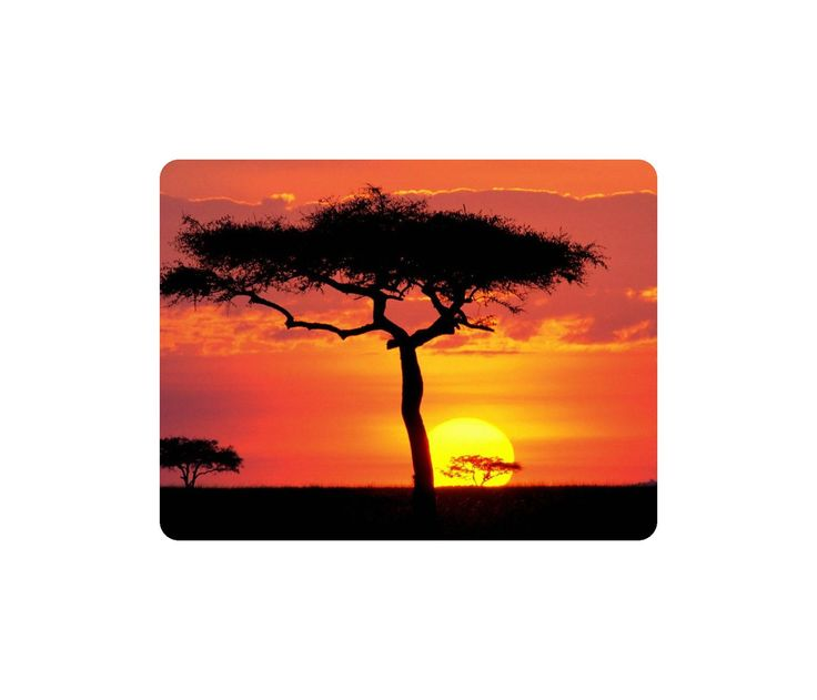 Beautiful Nature Mouse Pad African Sunset